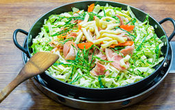 Meat vegetable stir-fry Royalty Free Stock Image