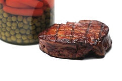 Meat and vegetables Royalty Free Stock Photography
