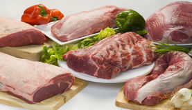 Meat and vegetables Royalty Free Stock Photos