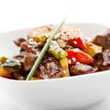 Meat with Vegetables Royalty Free Stock Photo
