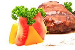 Meat and vegetables Stock Photos