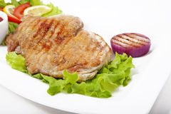 Meat with vegetables Stock Image