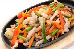 Meat with vegetables Stock Images