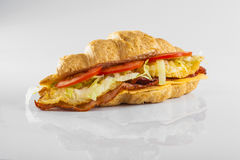 Meat and vegetables croissant stock photos