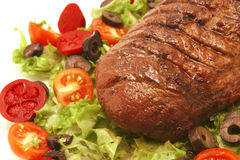 Meat and vegetables on dish Royalty Free Stock Photos