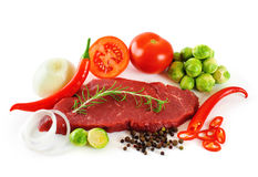 Meat and vegetables Royalty Free Stock Images