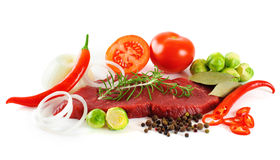 Meat and vegetables Royalty Free Stock Photo