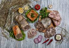 Meat And Vegetables Stock Photo