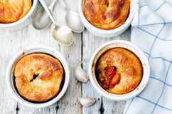 Meat vegetables potpie Stock Photography