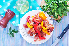 Meat and vegetables Stock Photography