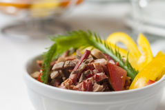 Meat with vegetables salad Royalty Free Stock Image