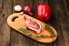 Meat, vegetables and spices Royalty Free Stock Photo