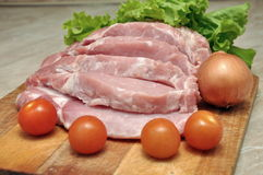 Meat in vetrine Royalty Free Stock Image
