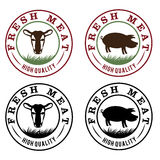 Meat vintage labels set. Fresh meat vintage labels set Royalty Free Stock Photos