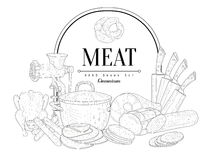Meat Vintage Sketch Royalty Free Stock Photography