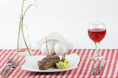 Meat and wine Royalty Free Stock Photos