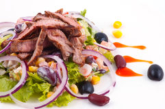 Meat With Vegetables. Stock Photo