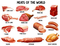 Meat of the world Royalty Free Stock Photo