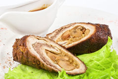 Meat wrapped Stock Photography