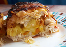 Meat wrapped rolls with turkey Stock Image