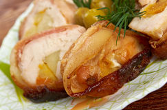 Meat wrapped rolls with turkey Stock Photography
