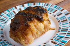 Meat wrapped rolls with turkey Stock Photo