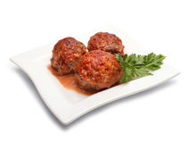 Meatball. With parsley isolated on white Royalty Free Stock Image