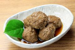 Meatball. This is called nikudango in a Japanese meatball Stock Photo