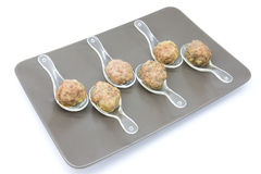 Meatball. S made with veal and pork with red wine sauce reduction stock image