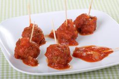 Meatball Appetizer Royalty Free Stock Images