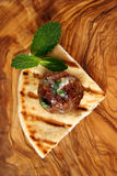 Meatball appetizer Stock Photography