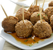 Meatball Appetizers Royalty Free Stock Photos