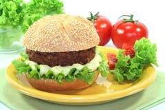 Meatball with bun Royalty Free Stock Photos