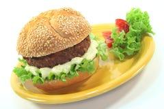 Meatball with bun Stock Image
