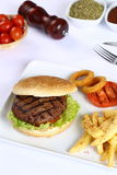 Meatball Burger Royalty Free Stock Images