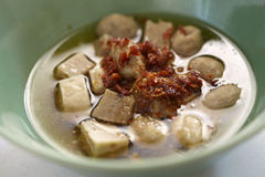 Meatball and chili soup Royalty Free Stock Photo