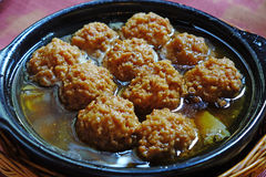 Meatball. Chinese  cuisine ,Meatball made of  pork Stock Image