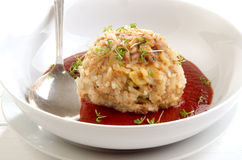 Meatball cooked with rice Stock Image