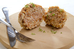 Meatball cooked with rice Royalty Free Stock Images