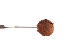 Meatball on a fork Stock Image