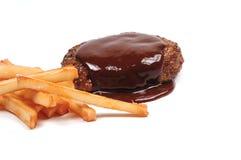 Meatball и fries Стоковое Фото