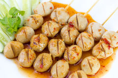 Meatball grilled Stock Images