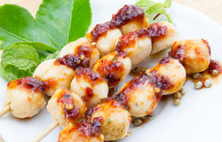 Meatball grilled Royalty Free Stock Photography