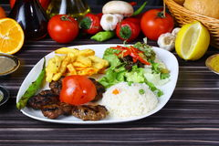 Meatball. Grilled Turkish meatball on dinner table stock photography