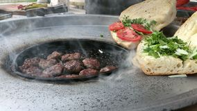 Meatball Kofte in Turkish Outdoor Style. Video stock video