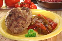 Meatball with Letscho Royalty Free Stock Photos