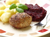 Meatball meal Stock Photography