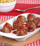 Meatball Meal Royalty Free Stock Photography