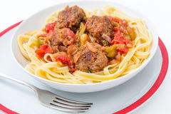 Meatball meal Stock Image
