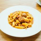 Meatball pasta with sauce Stock Photo